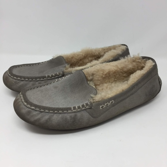 cf61e63eeac UGG 3312 10 ANSLEY SLIPPER Light Gray Women's Wool